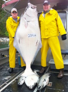 Congrats to George on His 234 lb. Halibut