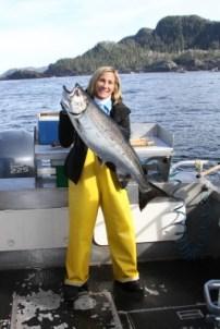 A Beautiful King Salmon on a Nice Day