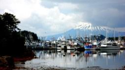 Mt Edgecumb From Eliason Harbor in Sitka
