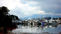 Mt Edgecumb From Eliason Harbor in Sitka