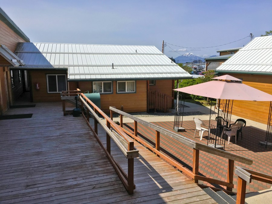 Deck and Patio of the Wild Strawberry Suites in Sitka, Alaska