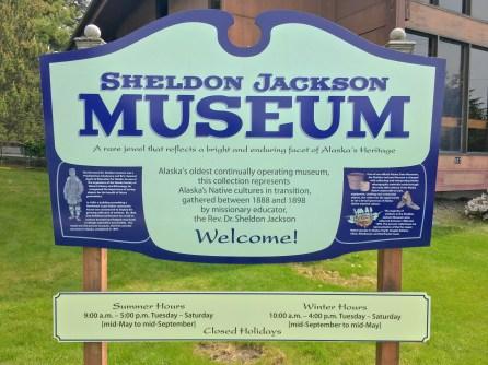 Sheldon Jackson Museum Sign In Sitka AK