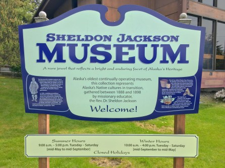 Sheldon Jackson Museum Sign In Sitka AK