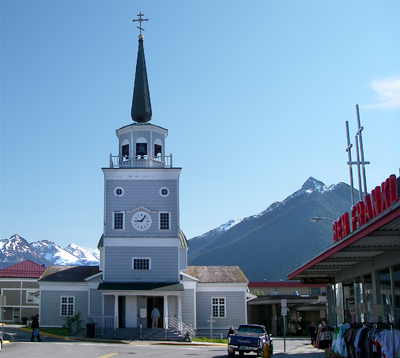 St. Michael's Cathedral in downtown Sitka, AK