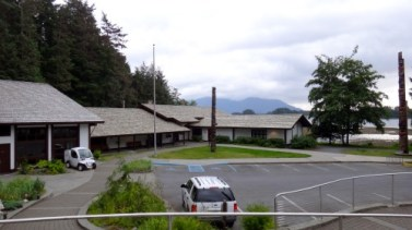 Sitka Visitor Center. Where the totem trail scenic route begins.
