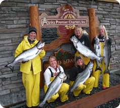 ladies fishing, ladies salmon, women fishing, sitka, alaska, girls who fish, girls fishing, wild strawberry lodge