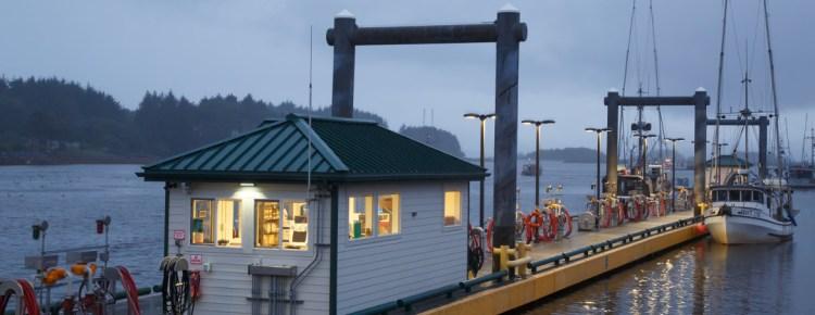 Fuel Dock In Sitka, Alaska