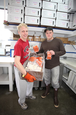 We pack your fish so it will stay frozen for up to 24 hours.