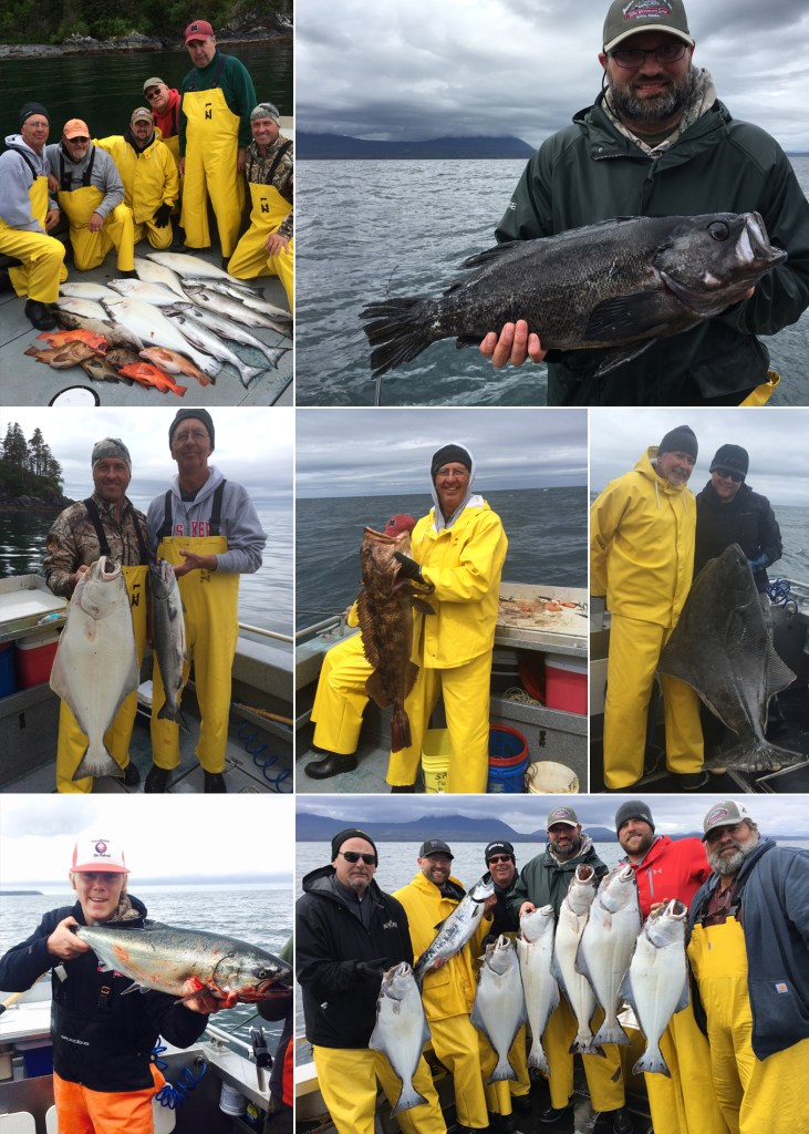 Nice variety including a record rockfish & a 59 in. releaser halibut!
