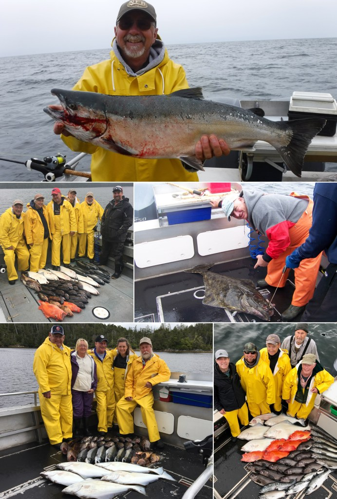A whopper coho tops the variety of fish for the day!