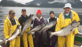sitka alaska, wild strawberry lodge, halibut, salmon