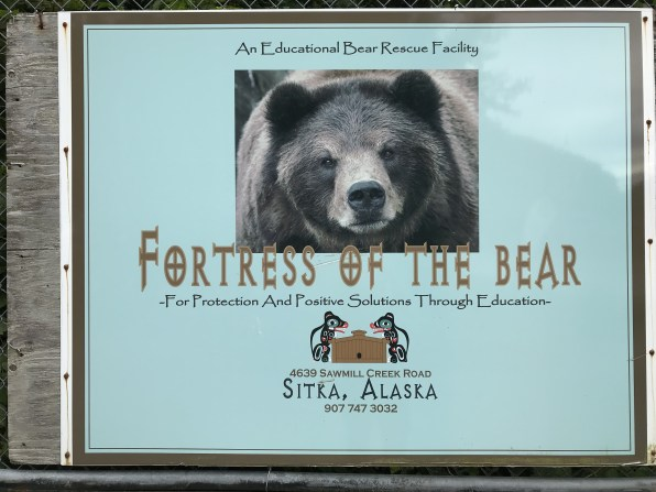 Fortress of the Bear Sign 2018 in Sitka, Alaska