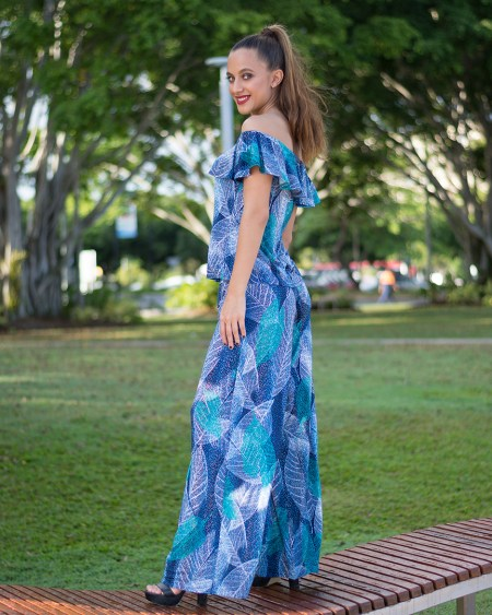 Rio Top and Palazzo Pants in Autumn Blue