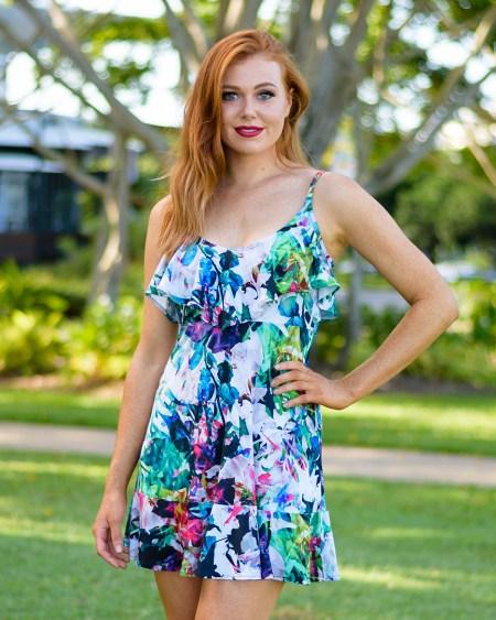 Seychelles Rose Dress in High Tea
