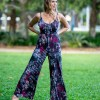 Palazzo Jumpsuit in Red Moon