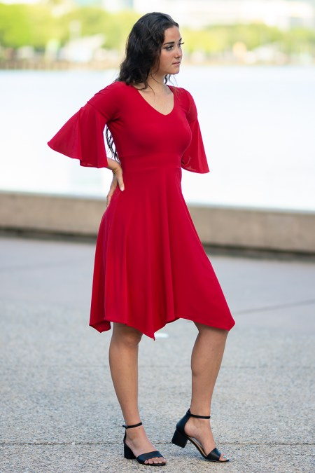 Europa Empress Dress in Block Colours