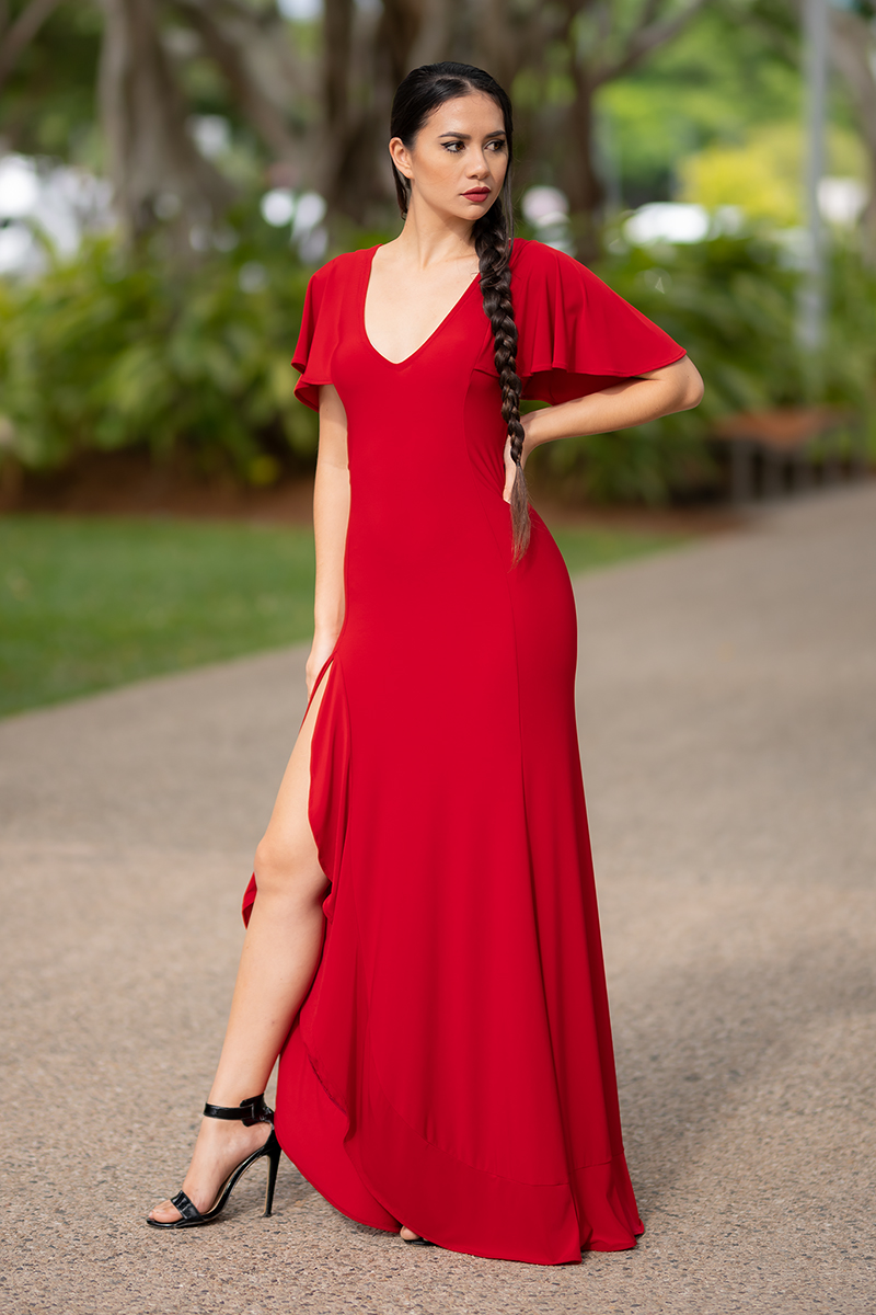 Return to Innocence Dress in Red