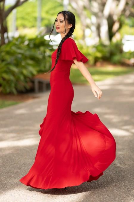 Return to Innocence Dress in Red