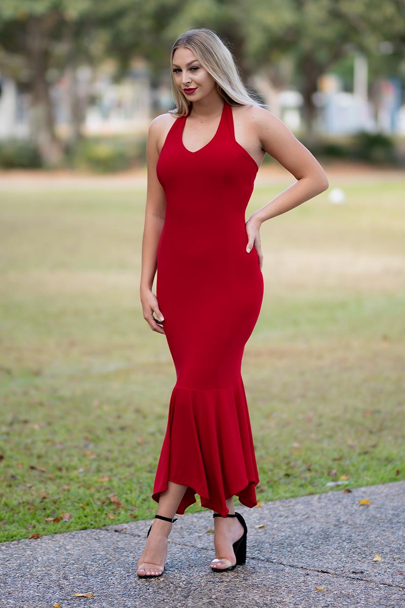 Juno Australis Mermaid Dress in Block Colours