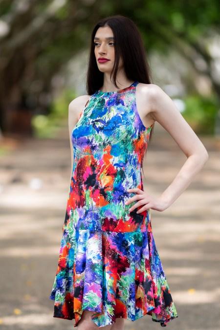 Solare Midi Dress in Paea