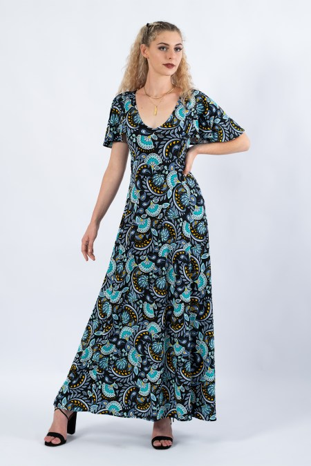 Teardrop Maxi Dress in Decadence