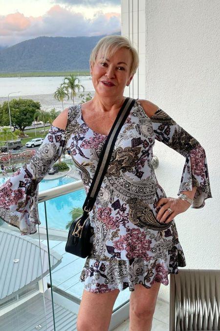 Gill Polo in the La Dolce Vita Dress in Rustic Rose