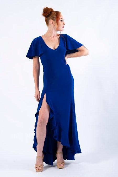 Return to Innocence Dress in Cobalt Blue