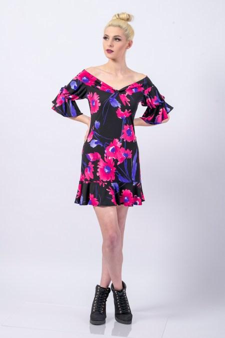Ladybird Mini Dress in Dahlia