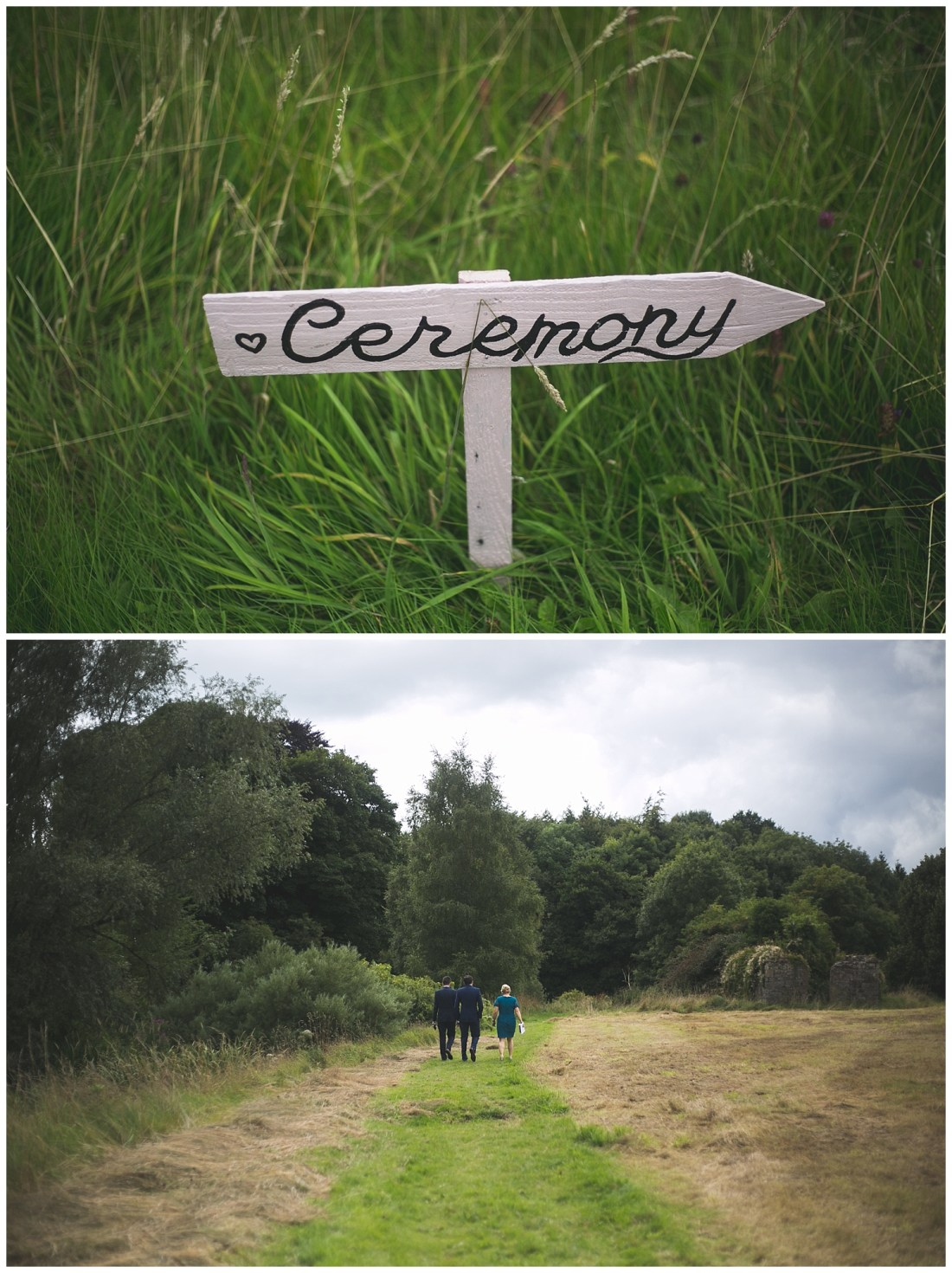 Cute DIY wedding signage