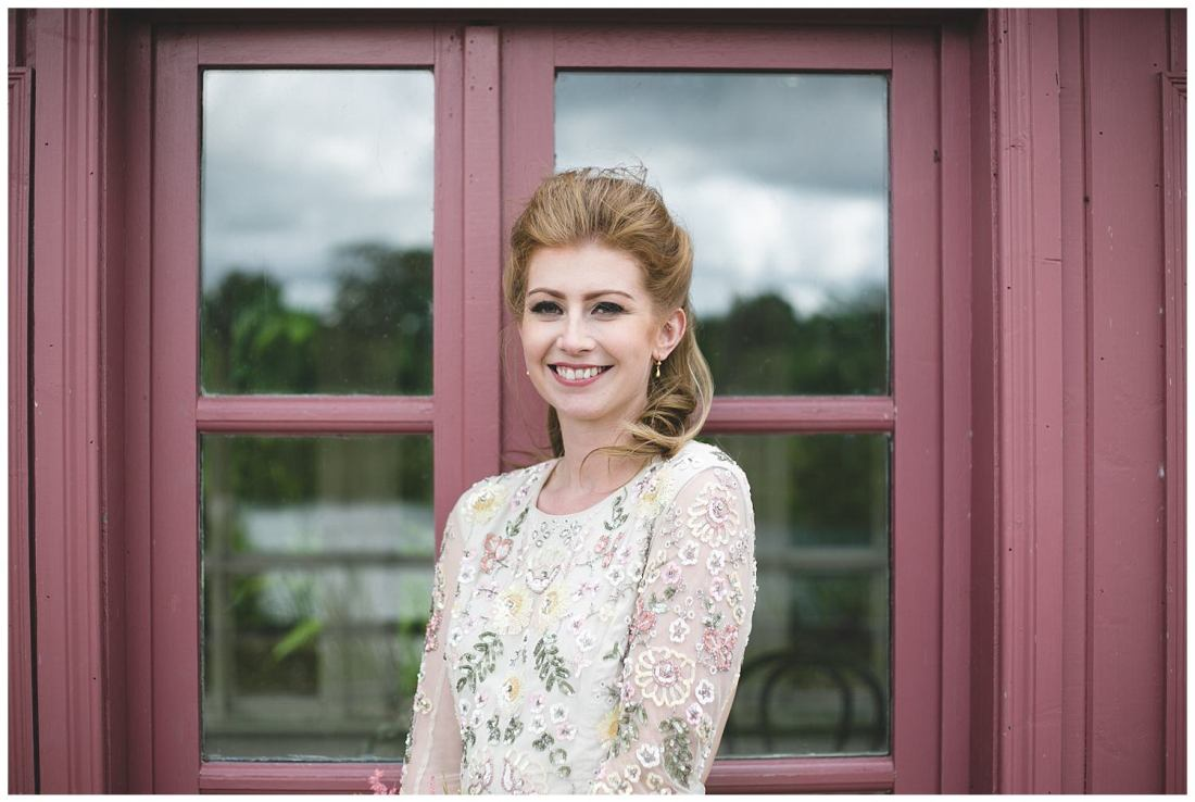 Bride portrait at the pin boathouse in Mount Druid