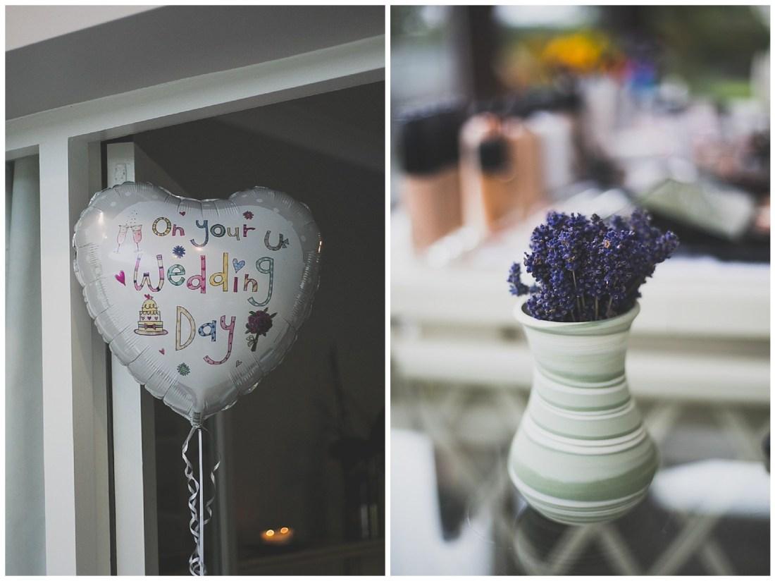 On your wedding day helium balloon