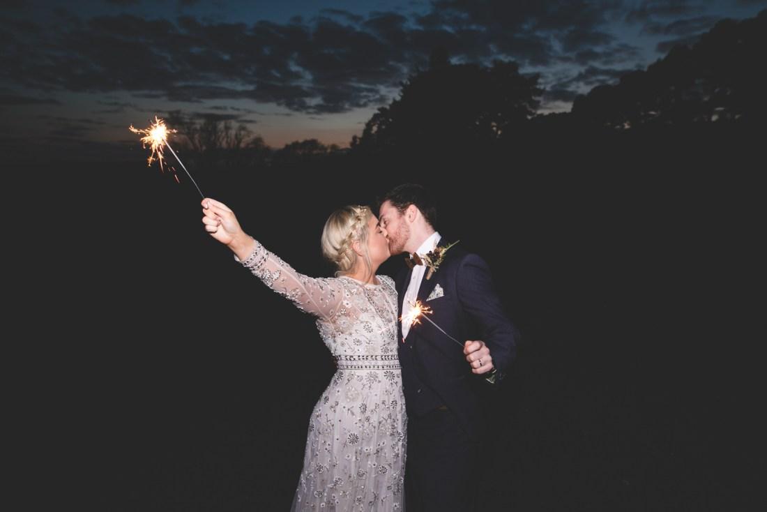 Wedding Sparkler shots at Kippure Estate wicklow