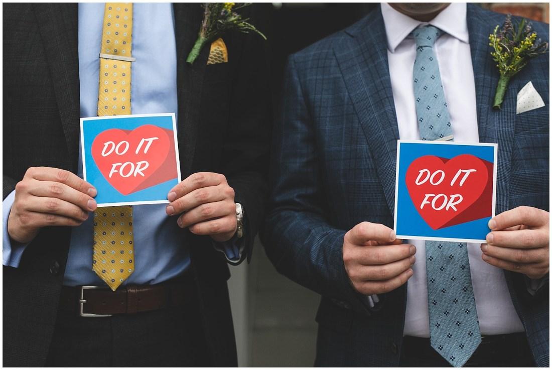 Do it for love invitation design