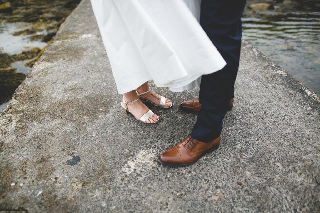 Wedding day details & close-up of shoes