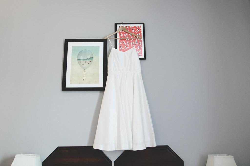 sleeveless sweetheart neckline and tea length wedding dress