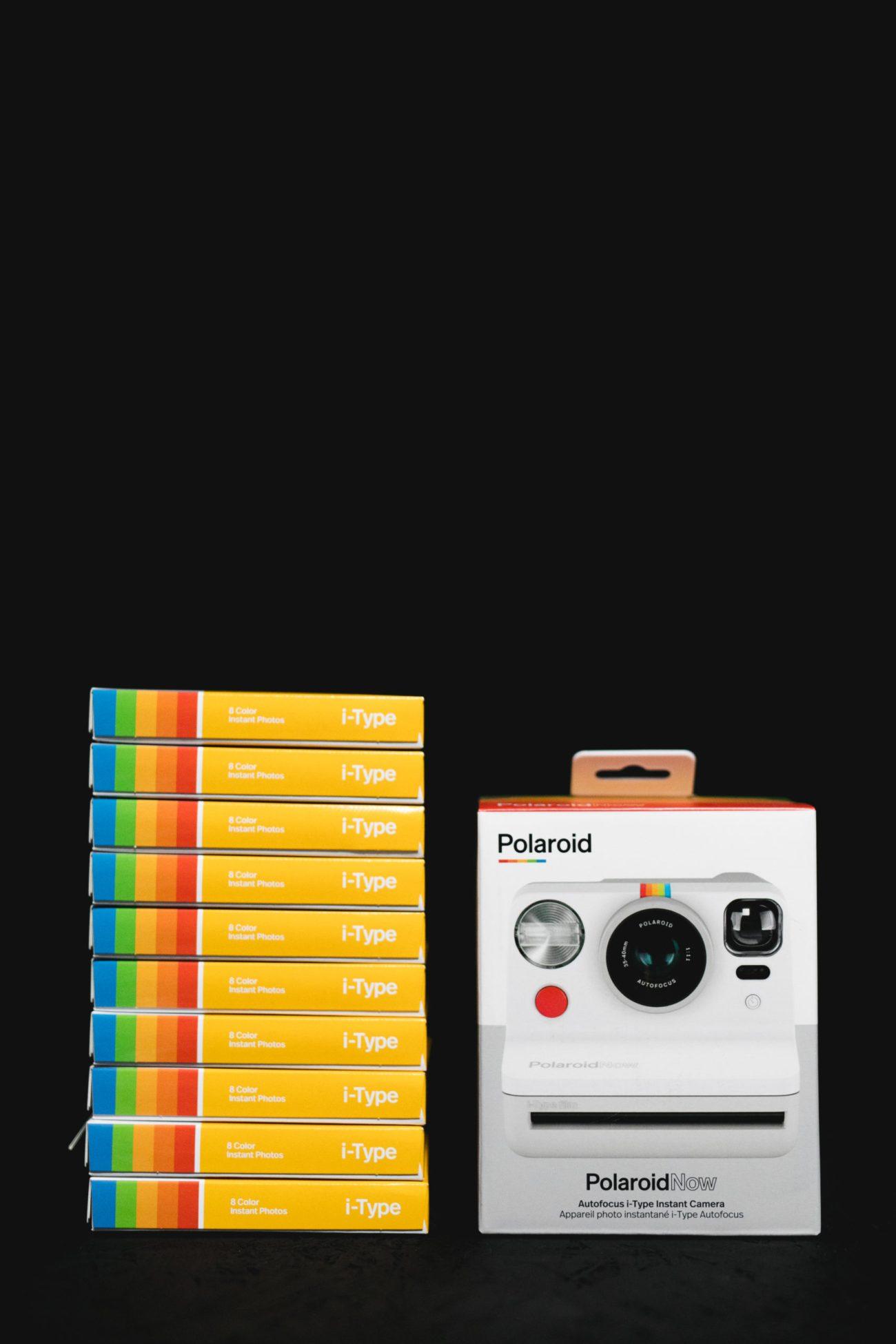 Polaroid Now Camera + 10 Packs of i-Type Film