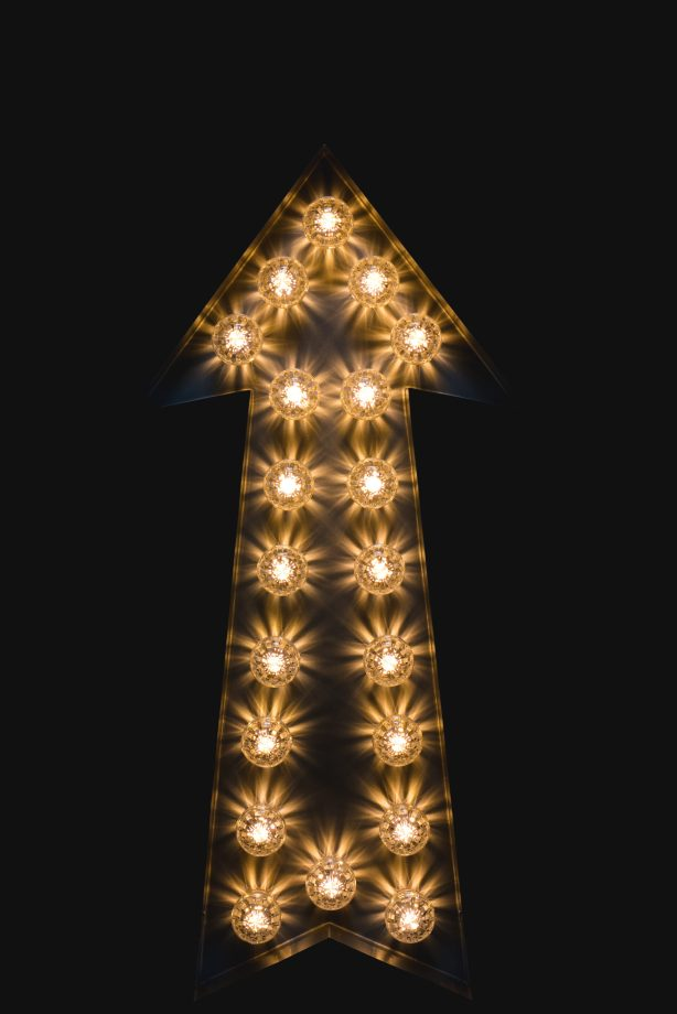 Metal Light Up Arrow  rent from Wild Things Wed
