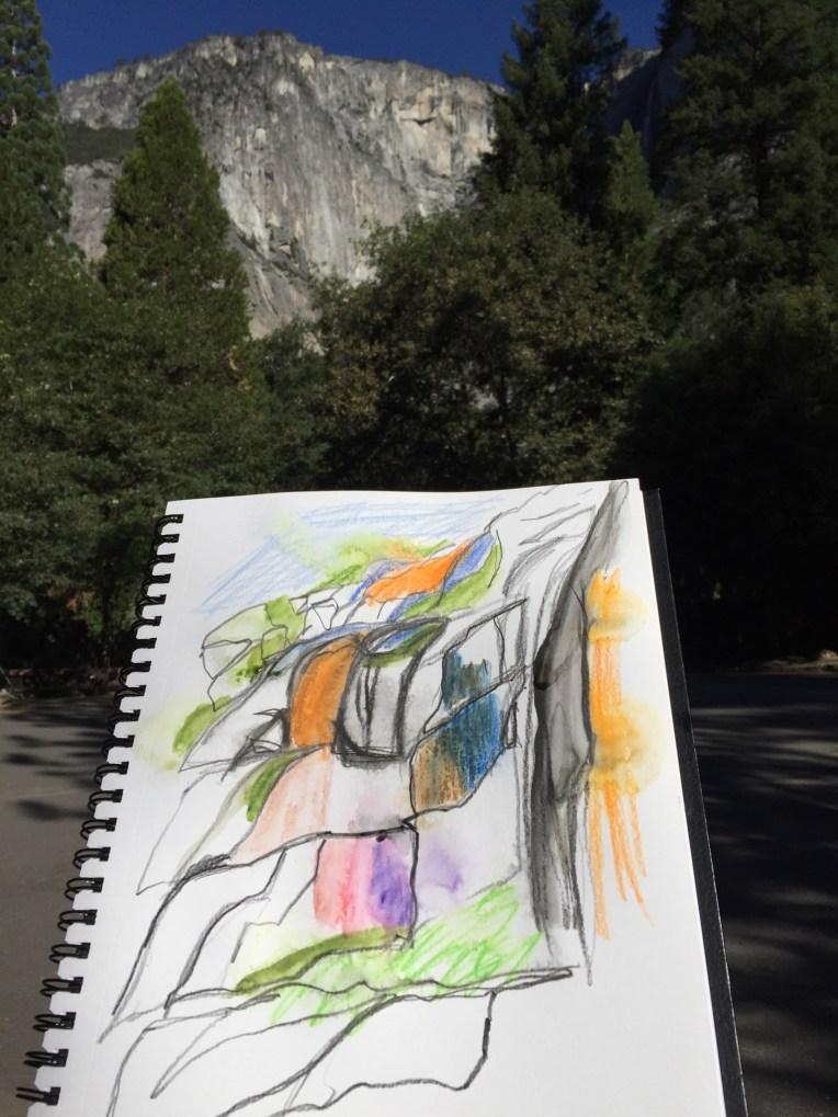 Rock study - Yosemite Falls