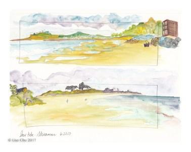 "Miramar Low Tide - 8""x10"" giclee print"