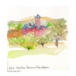 """Seminary Ridge View at Gettysburg - 8""""x8"""" giclee print"""