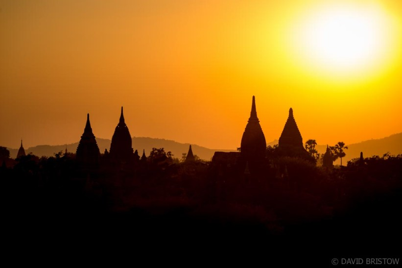 Sunset pover Bagan