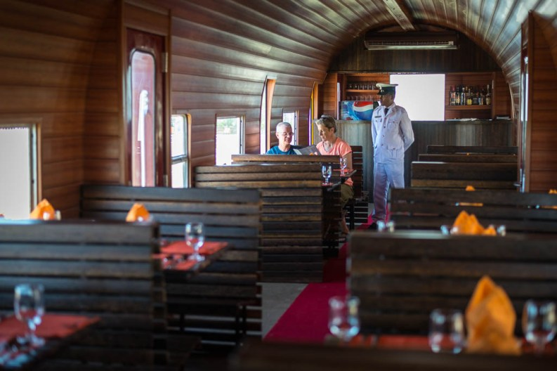 Trevi Restaurant in restored railway carriage