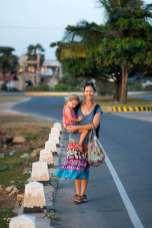 Catherine Maya walking Jaffna