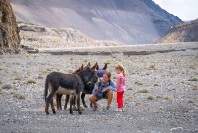 Trekking with kids lower mustang