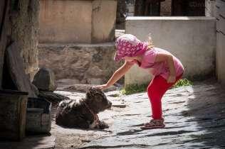 Trekking with kids lower mustang