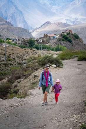 trekking away from village
