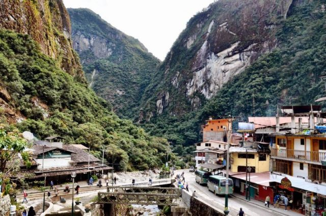 The small town of Aguas Calientes