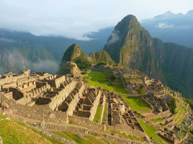 The majestic Machu Picchu from above