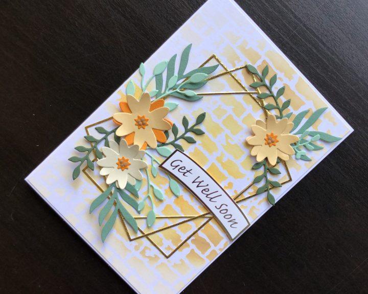 hand made get well card