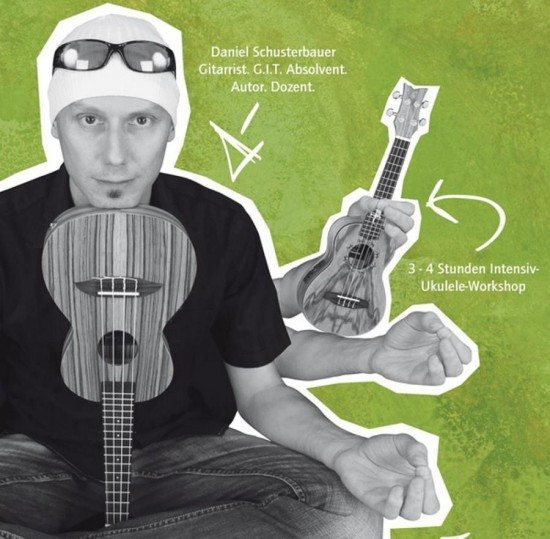 Daniel Schusterbauer und seine Ukulele